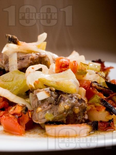 Гювеч в гърне с телешко месо - снимка на рецептата